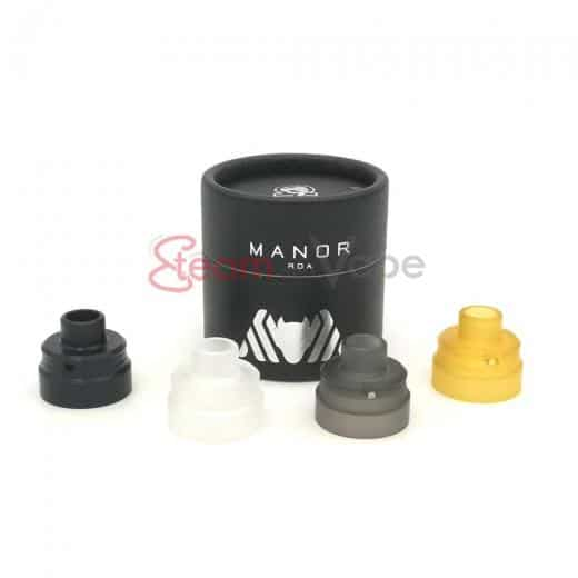 Black Delrin Top Cap Manor RDA - Phantohm